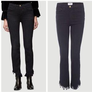FRAME Le High Straight Frayed Hem Jeans Size 27